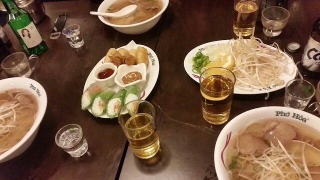 soju with meal