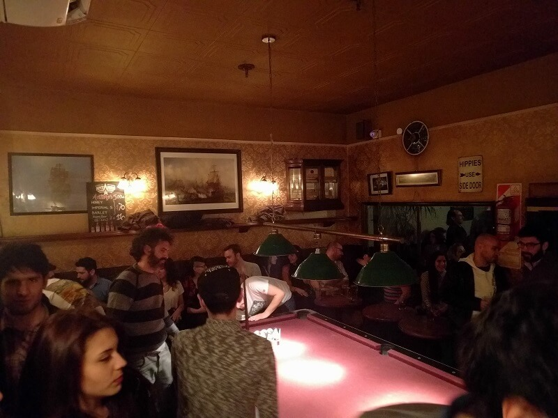playing pool in Buenos Aires